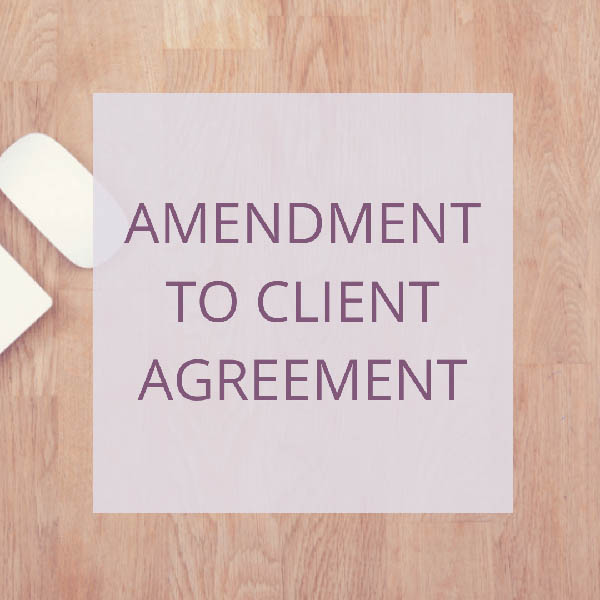 COACH – AMENDEMENT TO CLIENT SERVICES AGREEMENT